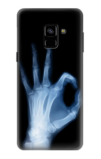 Printed X-Ray Hand Sign OK Samsung Galaxy A8 (2018) Case