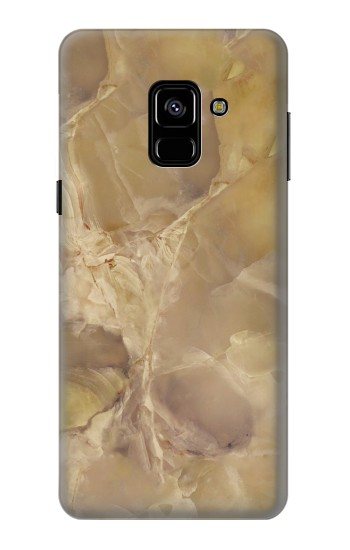Printed Yellow Marble Stone Samsung Galaxy A8 (2018) Case