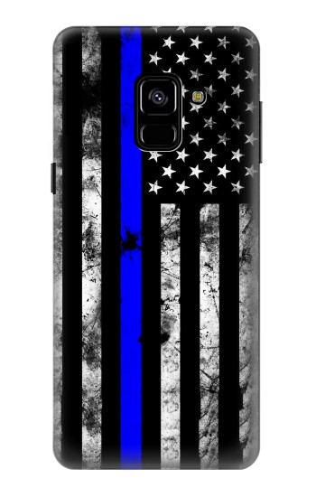 Printed Thin Blue Line USA Samsung Galaxy A8 (2018) Case