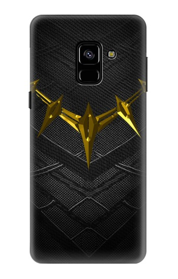 Printed Black Panther Inspired Costume Gold Necklace Samsung Galaxy A8 (2018) Case