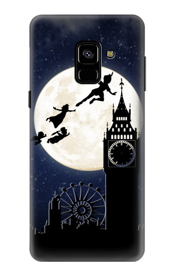 Printed Peter Pan Fly Fullmoon Night Samsung Galaxy A8 (2018) Case