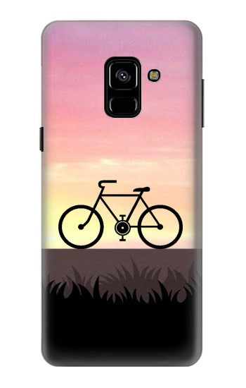 Printed Bicycle Sunset Samsung Galaxy A8 (2018) Case