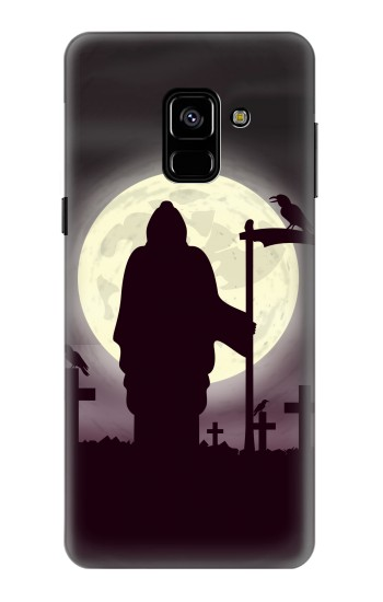 Printed Night Moon Cemetery Samsung Galaxy A8 (2018) Case