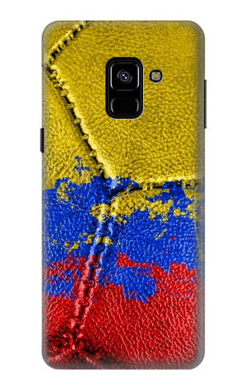Printed Colombia Flag Vintage Football 2018 Samsung Galaxy A8 (2018) Case