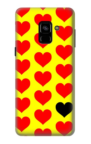 Printed Red Heart Samsung Galaxy A8 (2018) Case