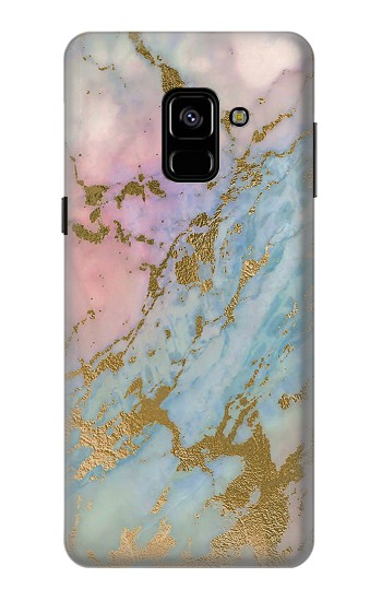 Printed Rose Gold Blue Pastel Marble Graphic Printed Samsung Galaxy A8 (2018) Case