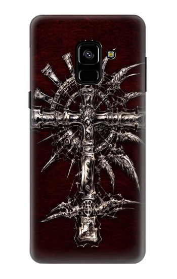 Printed Dark Gothic Trinity Blood Cross Samsung Galaxy A8 (2018) Case