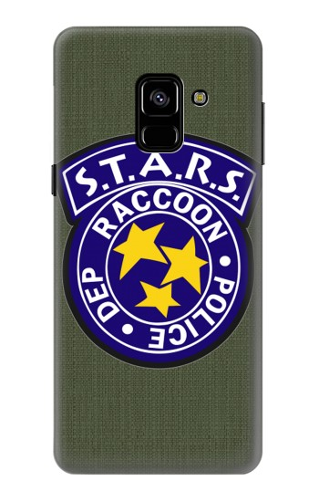 Printed Resident Evil Star Badge Chris Outfit Samsung Galaxy A8 (2018) Case