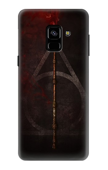 Printed Deathly Hallows Magic Wand Red Samsung Galaxy A8 (2018) Case