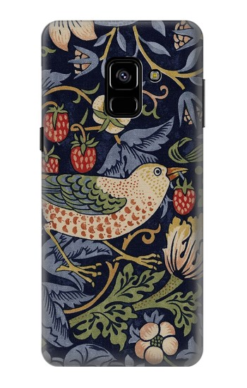Printed William Morris Strawberry Thief Fabric Samsung Galaxy A8 (2018) Case