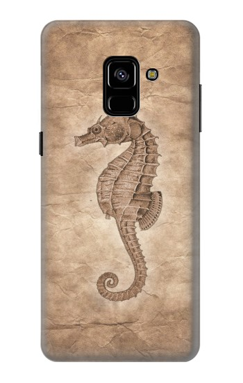 Printed Seahorse Old Paper Samsung Galaxy A8 Plus (2018) Case