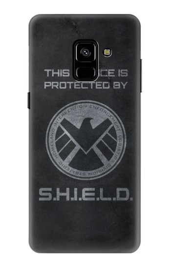 Printed This Device is Protected by Shield Samsung Galaxy A8 Plus (2018) Case