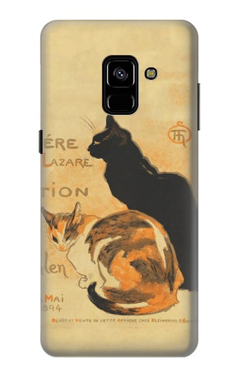 Printed Vintage Cat Poster Samsung Galaxy A8 Plus (2018) Case