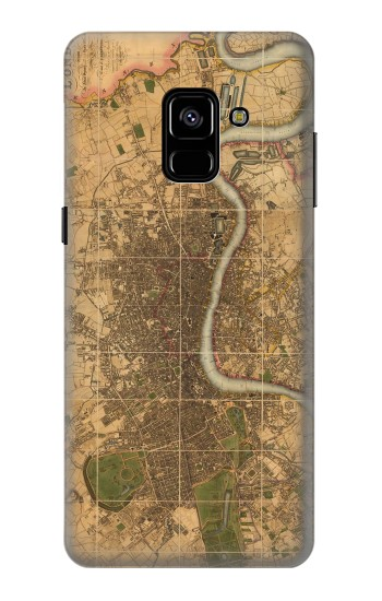 Printed Vintage Map of London Samsung Galaxy A8 Plus (2018) Case