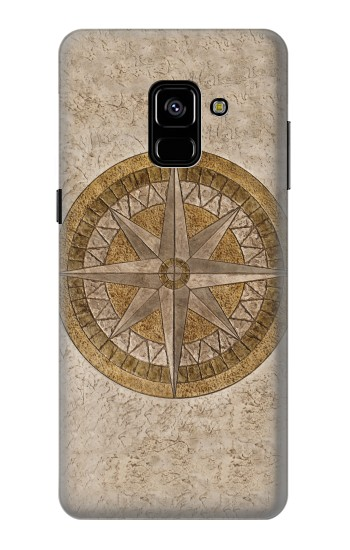Printed Windrose Circle Stamp Samsung Galaxy A8 Plus (2018) Case