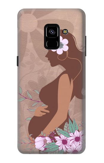 Printed Pregnant Mommy Baby Samsung Galaxy A8 Plus (2018) Case