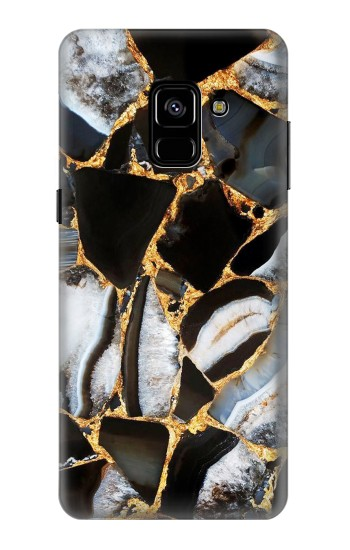 Printed Gold Marble Graphic Print Samsung Galaxy A8 Plus (2018) Case