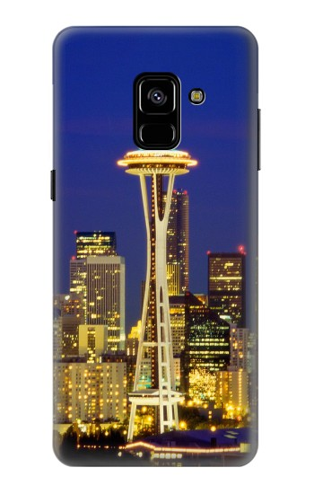 Printed Space Needle Seattle Skyline Samsung Galaxy A8 Plus (2018) Case