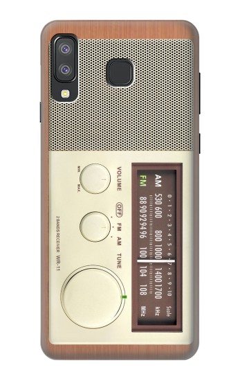 Printed FM AM Wooden Receiver Graphic Samsung Galaxy A8 Star (A9 Star) Case