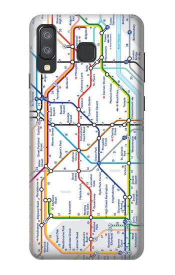 Printed London Underground Map Samsung Galaxy A8 Star (A9 Star) Case