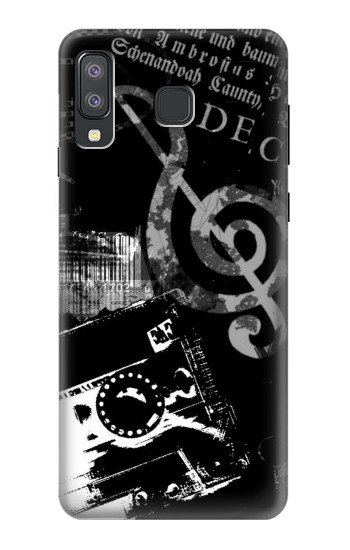 Printed Music Cassette Note Samsung Galaxy A8 Star (A9 Star) Case