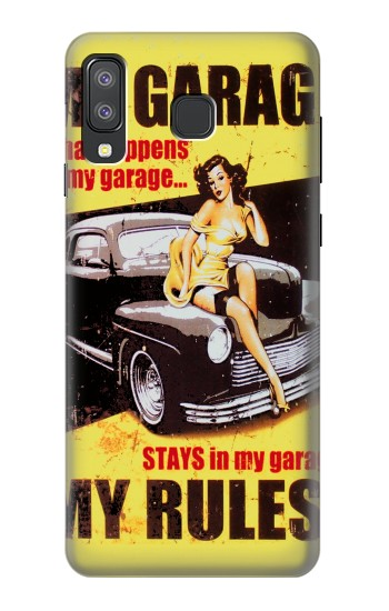 Printed My Garage Pinup Girl Samsung Galaxy A8 Star (A9 Star) Case