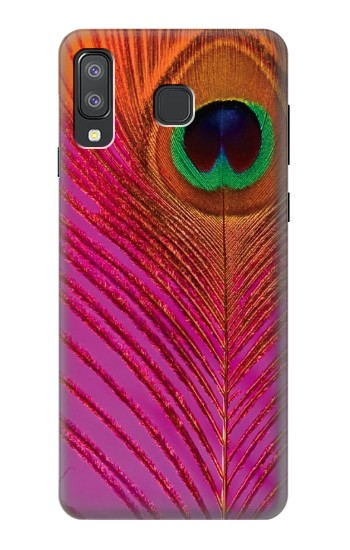 Printed Pink Peacock Feather Samsung Galaxy A8 Star (A9 Star) Case