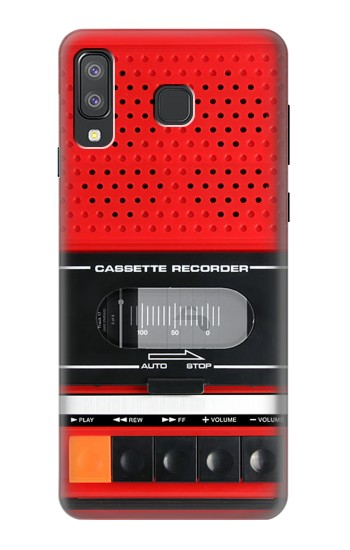 Printed Red Cassette Recorder Graphic Samsung Galaxy A8 Star (A9 Star) Case