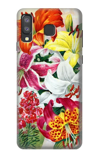 Printed Retro Art Flowers Samsung Galaxy A8 Star (A9 Star) Case