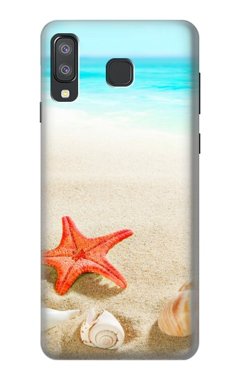 Printed Sea Shells Starfish Beach Samsung Galaxy A8 Star (A9 Star) Case