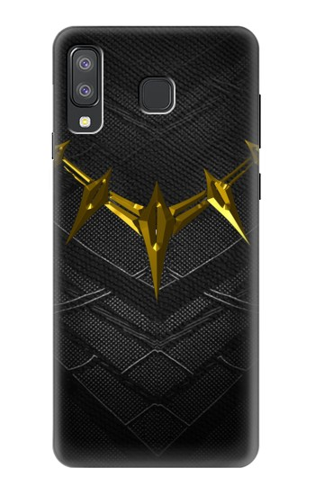 Printed Black Panther Inspired Costume Gold Necklace Samsung Galaxy A8 Star (A9 Star) Case