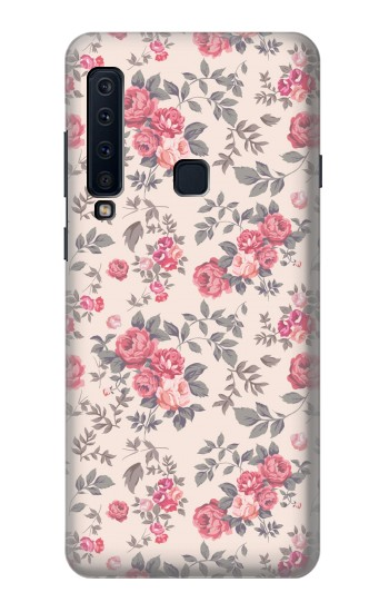 Printed Vintage Rose Pattern Samsung Galaxy A9 (2018) Case