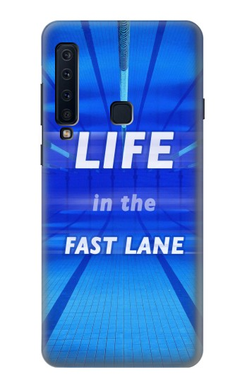 Printed Life in the Fast Lane Swimming Pool Samsung Galaxy A9 (2018) Case