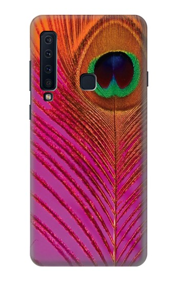 Printed Pink Peacock Feather Samsung Galaxy A9 (2018) Case