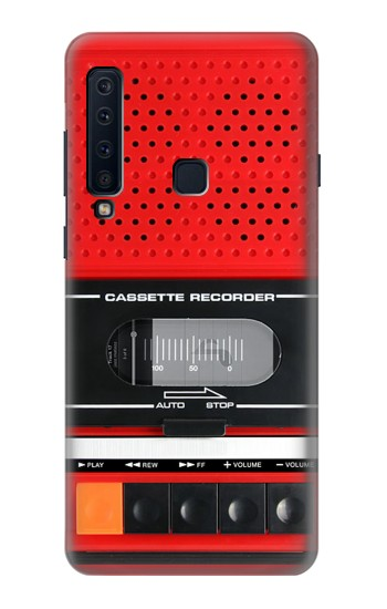 Printed Red Cassette Recorder Graphic Samsung Galaxy A9 (2018) Case