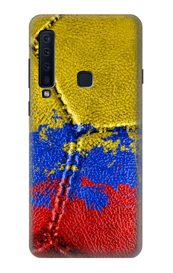 Printed Colombia Flag Vintage Football 2018 Samsung Galaxy A9 (2018) Case