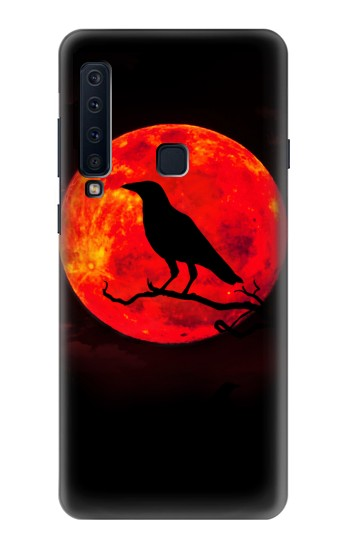 Printed Crow Red Moon Samsung Galaxy A9 (2018) Case