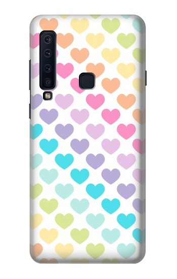 Printed Colorful Heart Pattern Samsung Galaxy A9 (2018) Case
