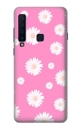 Printed Pink Floral Pattern Samsung Galaxy A9 (2018) Case