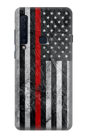 Printed Firefighter Thin Red Line American Flag Samsung Galaxy A9 (2018) Case
