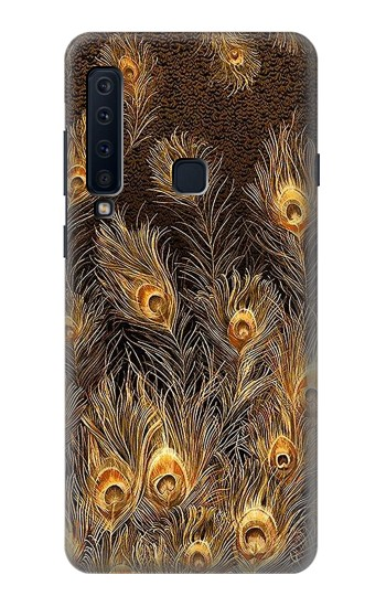 Printed Gold Peacock Feather Samsung Galaxy A9 (2018) Case