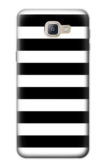 Printed Black and White Striped Samsung Galaxy A9, A9 Pro (2016) Case