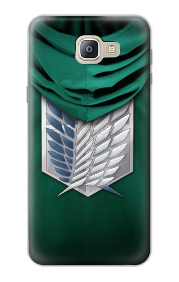 Printed Attack on Titan Scouting Legion Rivaille Green Cloak Samsung Galaxy A9, A9 Pro (2016) Case