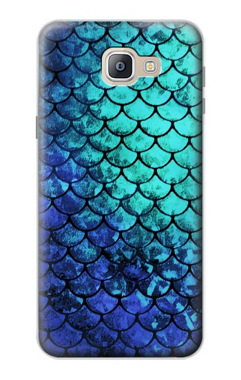 Printed Green Mermaid Fish Scale Samsung Galaxy A9, A9 Pro (2016) Case