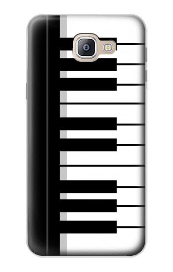 Printed Black and White Piano Keyboard Samsung Galaxy A9, A9 Pro (2016) Case