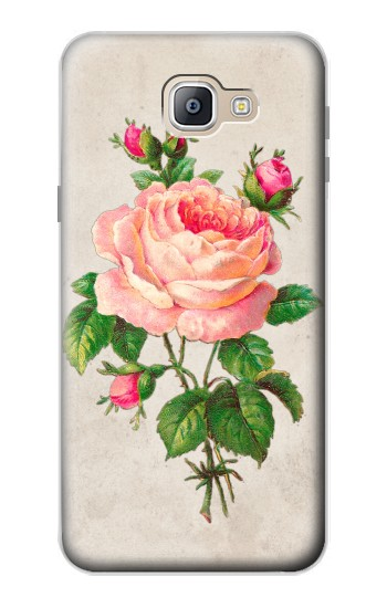 Printed Vintage Pink Rose Samsung Galaxy A9, A9 Pro (2016) Case