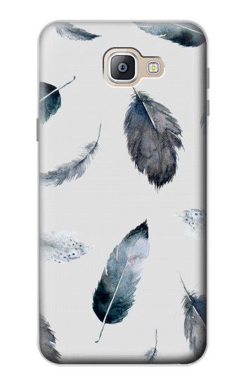 Printed Feather Paint Pattern Samsung Galaxy A9, A9 Pro (2016) Case