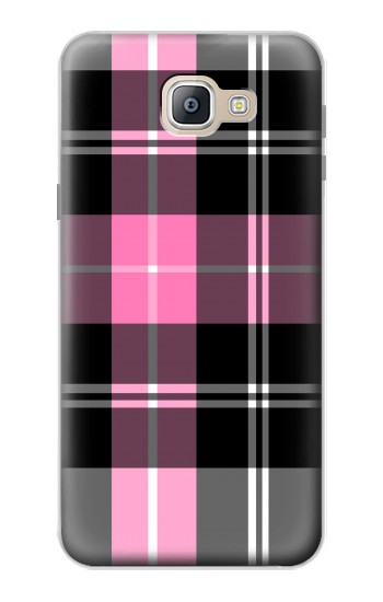 Printed Pink Plaid Pattern Samsung Galaxy A9, A9 Pro (2016) Case