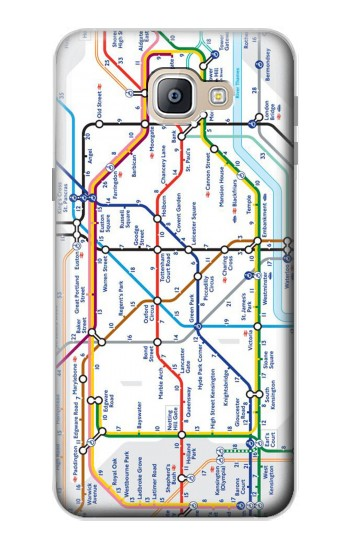 Printed London Underground Map Samsung Galaxy A9, A9 Pro (2016) Case