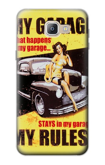Printed My Garage Pinup Girl Samsung Galaxy A9, A9 Pro (2016) Case